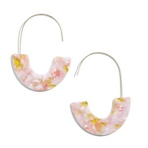 BaubleBar Faidra Thin Acrylic Oval Hoop Earrings